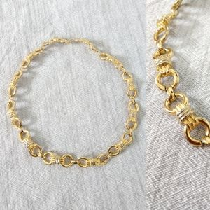 Vintage Gold Chain Necklace Choker Style